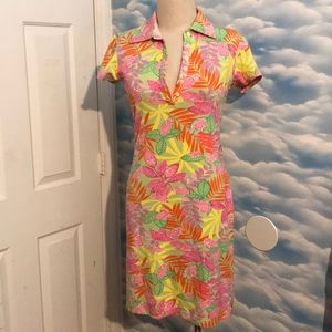 Vintage Lilly Pulitzer small frog stretch dress